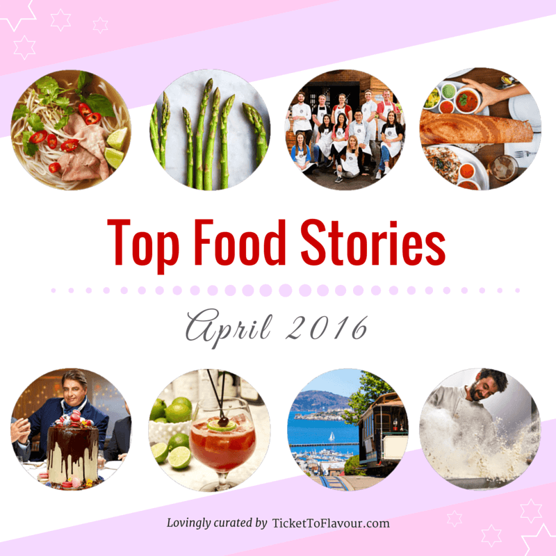 Top Food Stories of the Month - April 2016